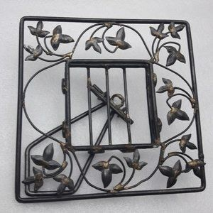 Wrought Iron Picture Frame Table Top Boho  Decor